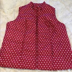 NWOT Woman Within 2X Polkadot Zippered Vest